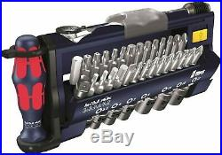 Wera 05227704001 Tool-Check Plus Bit Ratchet Set with Sockets Metric- Red Bull