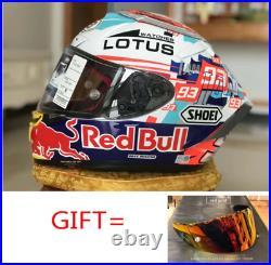 X14 93 Red bull WATCHES LOTUS LS39 Marquez Motorcycle motocross racing helmet
