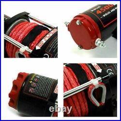 X-BULL12V 4500LBS Electric Winch ATV UTV Towing Truck Synthetic Rope 4WD Red