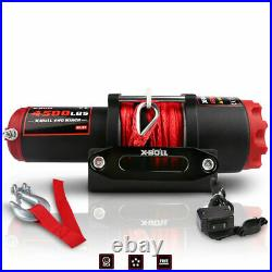 X-BULL 4500LBS 12V Electric Winch ATV UTV Towing Truck Synthetic Rope Red 4WD