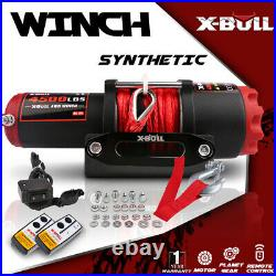 X-BULL Electric Winch 4500LBS Synthetic 4WD Remote Truck Towing Trailer Off-road