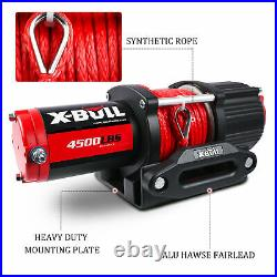 X-BULL Upgraded Version Electric Winch 4500LBS Synthetic Truck Trailer Off-Road